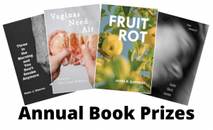 Book prize graphic with winning covers
