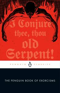 The Penguin Book of Exorcisms cover red with a black demon